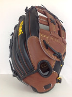 Vinci Glove model RV60 Black and Dark Brown: 13 inch CP Kip Leather Baseball Glove H Web