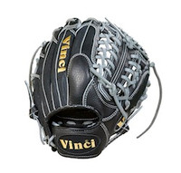 Vinci JC3333-22: 11.5 inch Baseball Glove with Black Mesh Back, Grey Lace and GreyWelting