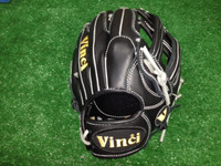 Vinci Baseball/ Softball Glove model RV1250 Black with H-Web 12.5 inch