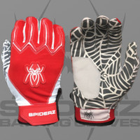 2016 Spiderz Web Red/White Batting Gloves