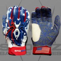 2016 Spiderz Hybrid USA Batting Gloves