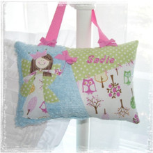 Girls Personalized Tooth Fairy Pillow - Brooke Owls