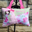 Girls Personalized Tooth Fairy Pillow - shabby floral