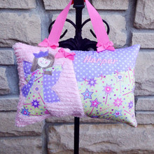 Girls Personalized Tooth Fairy Pillow - wands
