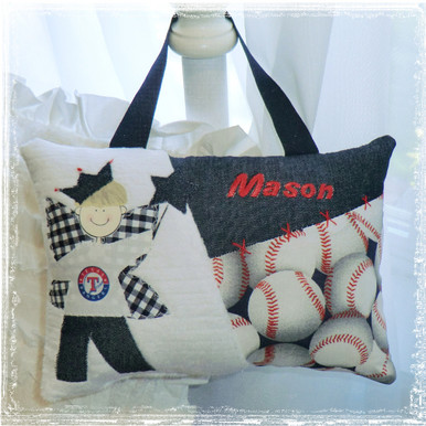 Personalized Boys Tooth Fairy Pillow - baseball