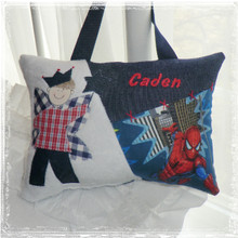 Personalized boys tooth fairy pillow - spiderman