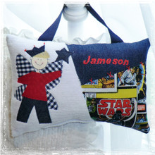 Personalized boys tooth fairy pillow - star wars