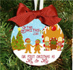 Christmas Ornament – Personalized Our First Christmas as Mr. and Mrs. Gingerbread