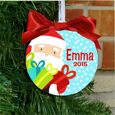 Christmas Ornament - Personalized Girls Santa