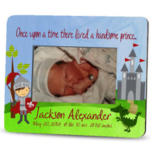 Picture Frame – Personalized new baby / knight and dragon