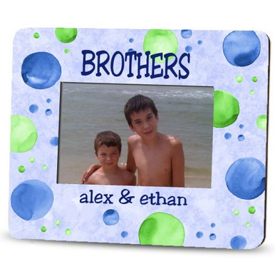 Picture Frame – Personalized brothers / Watercolor Dots