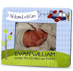 Picture Frame – Personalized new baby / airplane birth announcement
