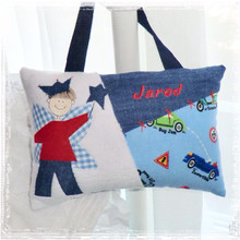 Personalized Boys Tooth Fairy Pillow - Cars and Trucks