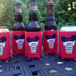 Bachelorette Coolie Koozie Personalized for Can or Bottle – mouse ears and beers set