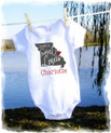 Baby girls t shirt onesie - made in birth state - missouri