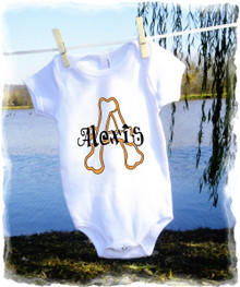 Baby girls t shirt onesie - personalized - bones