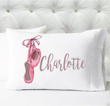 Personalized pillow case - girls ballet - case only - pillow not included