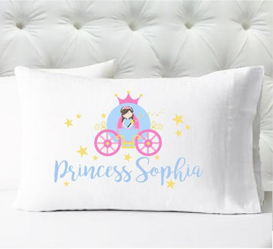Personalized pillow case - girls princess pillowcase - case only - pillow not included