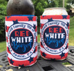 Fourth of July Koozies - Red White and Boozed - circle