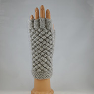 "Textured ""Bubble"" Fingerless Gloves"