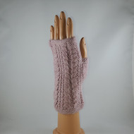 Cable Fingerless Gloves