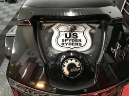 US Spyder Ryder Rear Trunk Urethane Domed Decal - GREY