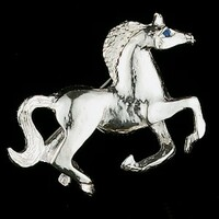 Sterling Silver Happy Mare Pin