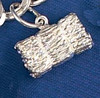 Sterling Silver Hay Bale Charm or Pendant