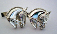 Sterling Silver Horse Head Cufflinks