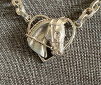 Limited Edition Sterling Silver Horse Head in Heart Necklace