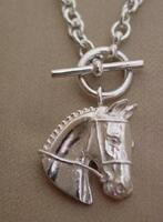 Sterling Silver Hunter Jumper Event Horse Necklace
