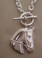 Sterling Silver Hunter Jumper Event Horse Necklace