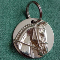 Sterling Silver Hunter/Jumper/Event Horse Halter or Bridle Tag