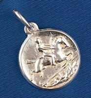 Sterling Silver Hunting Horse Charm or Pendant