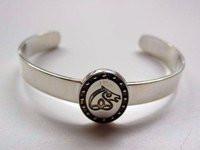 Irish Sport Horse Sterling Silver Breed Bangle Bracelet