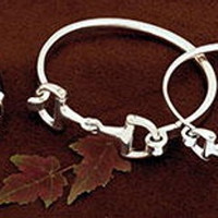 Sterling Silver Designer Bit Bangle