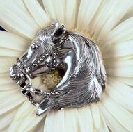 Sterling Silver Majestic Stallion Horse Head Pind Pendant