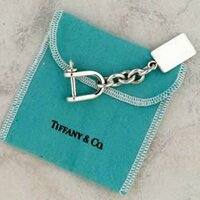 Sterling Silver signed Tiffany Tag Key Chain