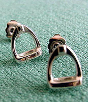 Sterling Silver Stirrup Stud Earrings