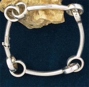 Sterling Silver Designer Mullen Mouth Bit Bracelet