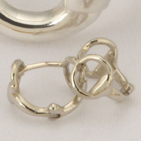 Sterling Silver Snaffle Bit Huggie Earrings