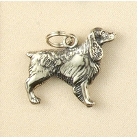 Sterling Silver Springer Spaniel Dog Charm or Pendant