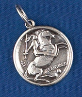 Sterling Silver St. Santiago Charm or Pendant