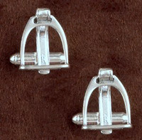 Sterling Silver Stirrup with Strap Cufflinks