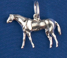Sterling Silver Thoroughbred Horse Charm or Pendant