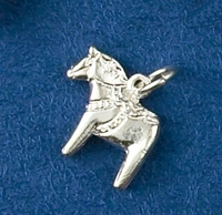 Sterling Silver Tiny Dala Horse Charm or Pendant