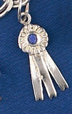 Sterling Silver Tiny Ribbon Pendant or Charm