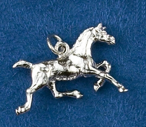dc791d893 Sterling Silver Trotting Horse Charm or Pendant - Show Stable Artisans