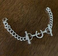 Sterling Silver Victorian Bit and Horseshoe Bracelet