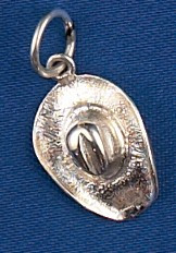 Sterling Silver Western Hat Charm or Pendant
